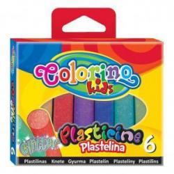 Пластилін з блиском 6 кол. Colorino 42697PTR