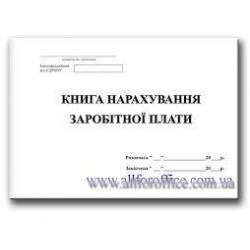 Книга начисления заработной платы 104 лис