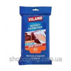 Серветки вологі для шкіряних виробів ТМ Viland 40шт VI31333