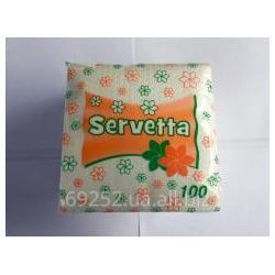 Серветки паперові Серветта  100шт/уп 24*24