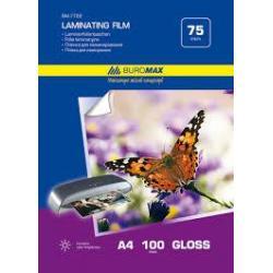 Плівка для ламінування А4 75мкм 216*303мм 100арк/уп ВМ.7722