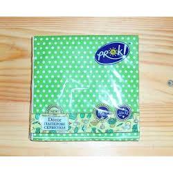 Салфетки бумажные PrOK 33*33 18шт/уп 3-шаровые рисунок